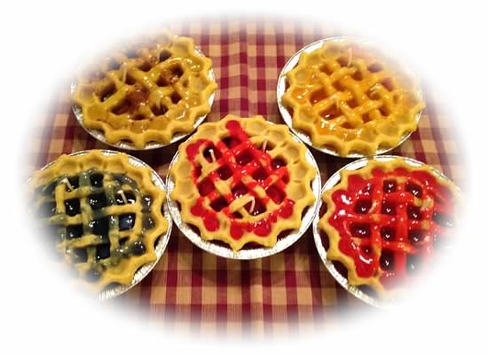 "5"" Fruit Pie Wax Candles"
