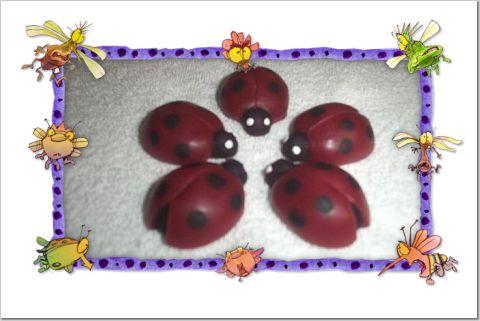 6 Wax Ladybugs