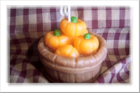 Bucket Tub With Pumpkins Wax Candle