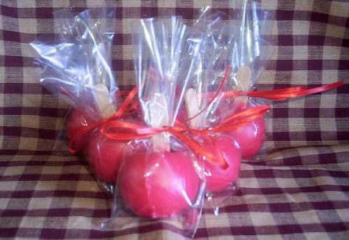 4 Large Red Candy Apples
