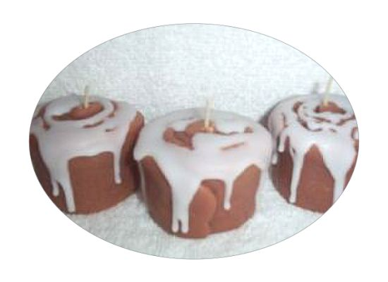 Cinnamon roll wax votives/ICED