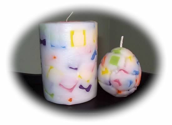 Choice of wax confetti egg or pillar