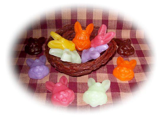 24 Pastel or Prim Easter Bunnies