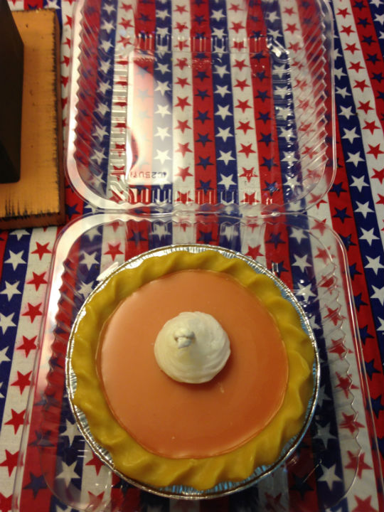 "3"" OR 5"" PUMPKIN WAX PIE"