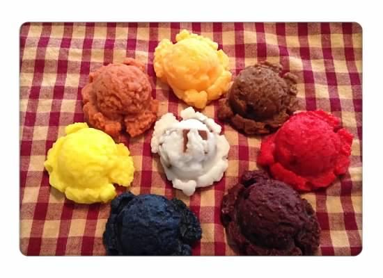 5 Small Wax Ice Cream Scoops