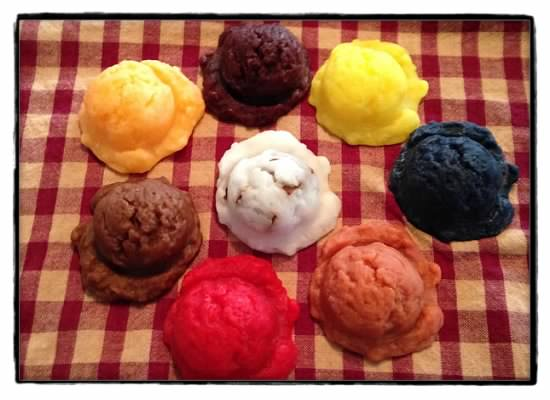 5 Large Wax Ice Cream Scoops