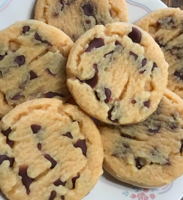 6 - Large wax chocolate chip cookies