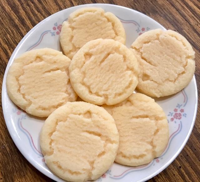6 - Large wax sugar cookies
