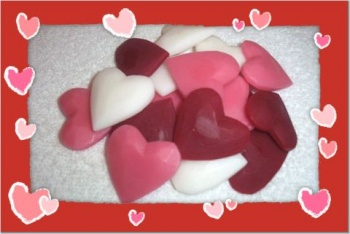 24 Carved Hearts Valentine