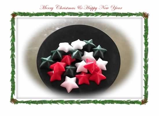 36 Wax Christmas Stars