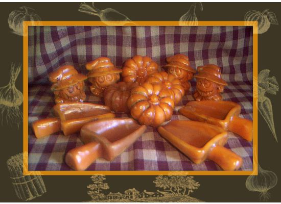 Spiced/grubby Choice of 12 Old fashion flour/sugar scoops-pumpkins-scarecrows