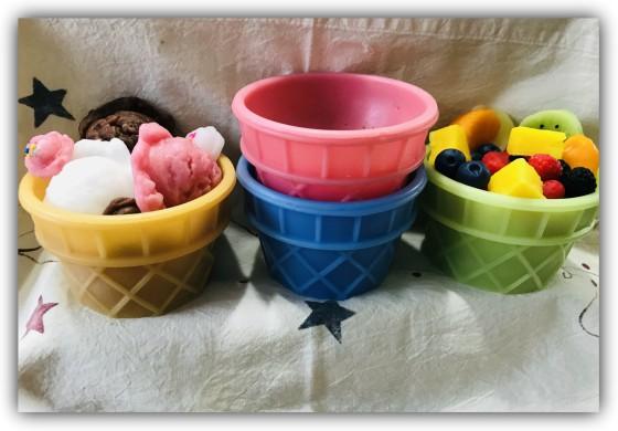 Wax Ice Cream/Fruit Basket