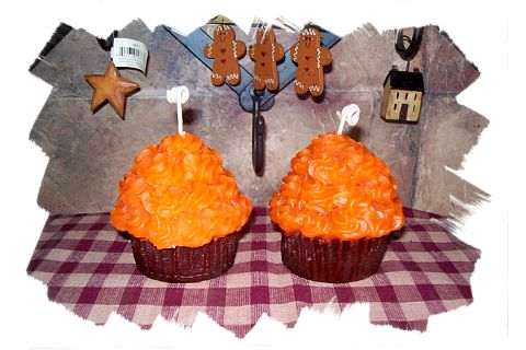 2 Large Fall Cupcake Votives