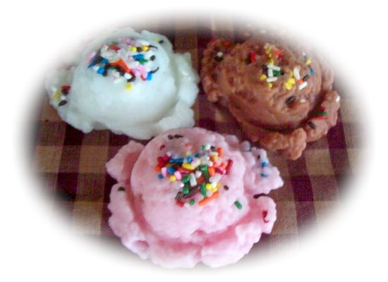 3  Large Ice Cream Sprinkle Scoops
