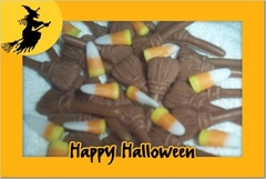 25 Halloween Mini Broomsticks