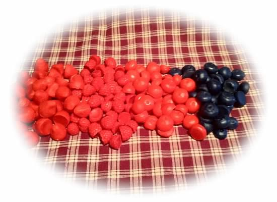 100 Piece Wax Fruit Sampler