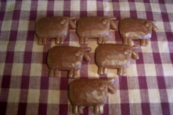 12 Primitive Wax Sheep