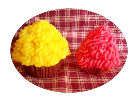 2 Large Wax Bakery Style Cupcake Candles-U Pick Scent